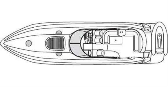 2001 sunseeker predator 56 yacht di lusso usato for G ferretti bathroom