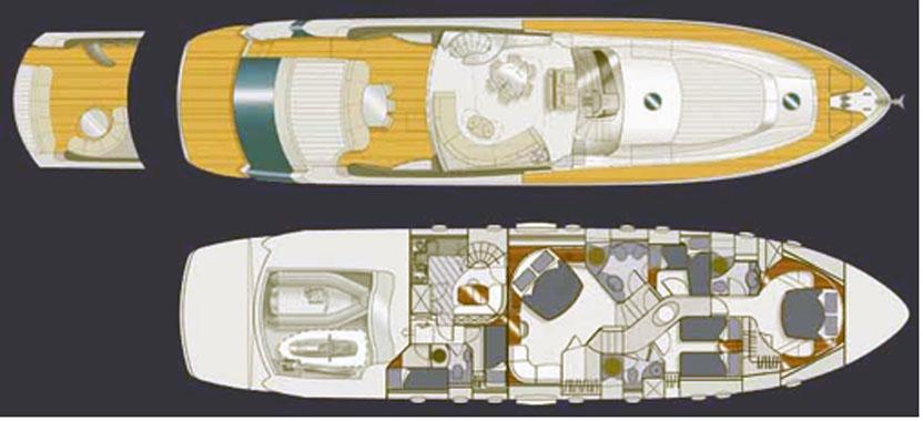 2004 pershing 76 39 yacht di lusso usato ferretti group for G ferretti bathroom